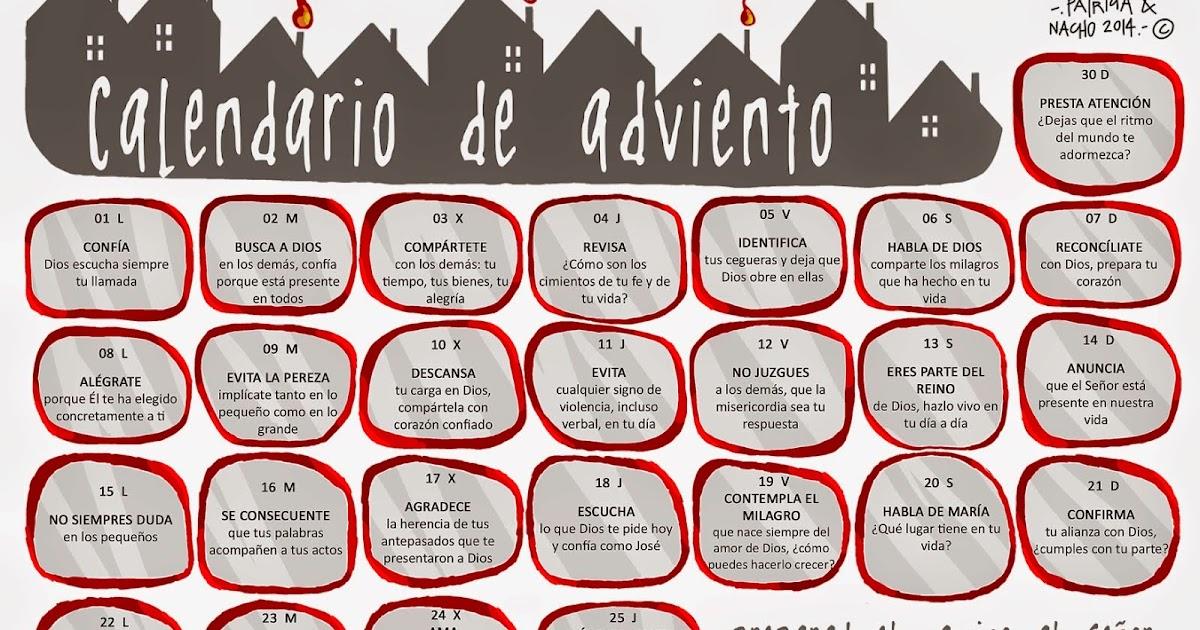 Recursos para mi clase calendario de adviento patricia rojo for Calendario adviento ninos