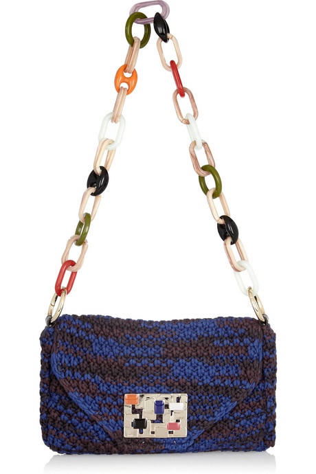 M Missoni Woven Wool Shoulder Bag