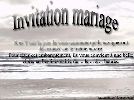 Faire part mariage mer