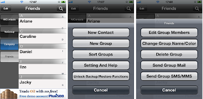 add contact to iphone group