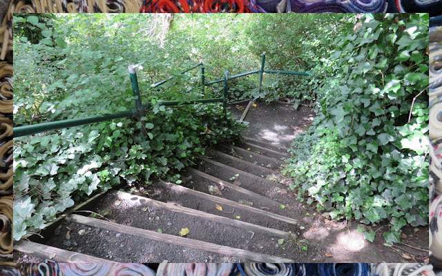 The Water of Leith in Edinburgh - Steep Stairs