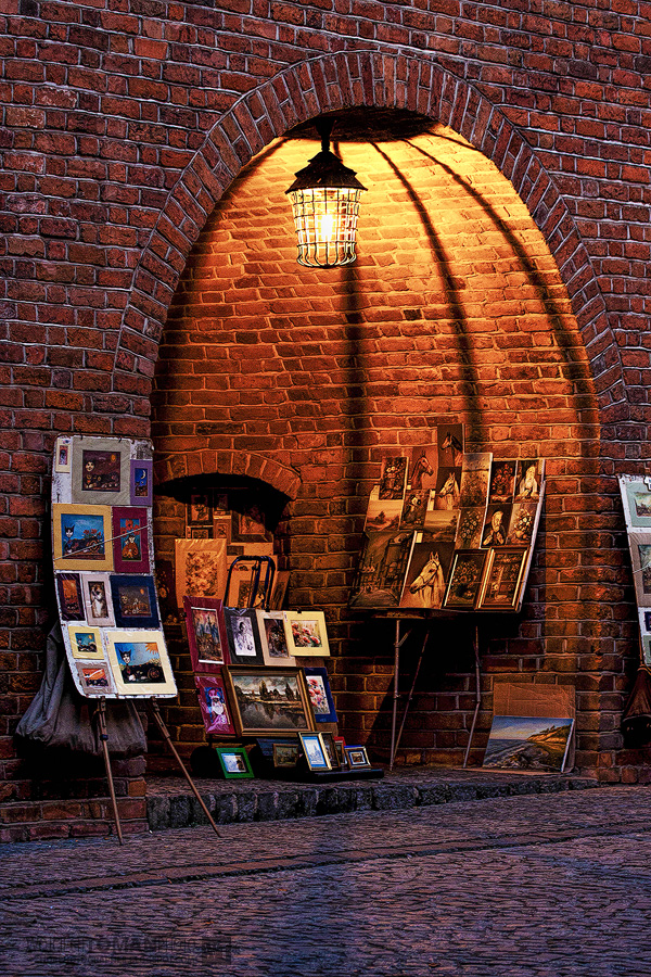 Street gallery in Warsaw