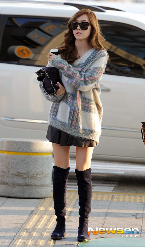 Airport Fashion Snsd Jessica Official Korean Fashion