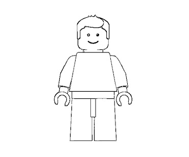 #8 Lego Coloring Page