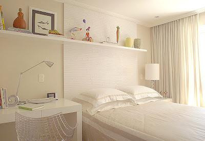 quarto+de+casal+6+branco+Casa+e+Jardim Decoração de quartos na cor branca