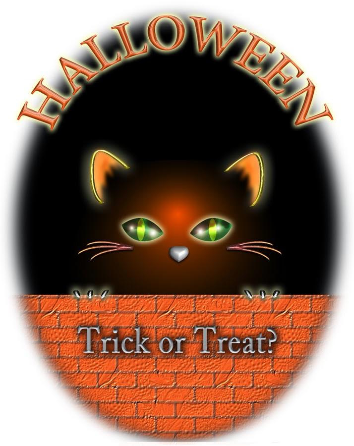 ハロウィンの黒猫イラスト見本1