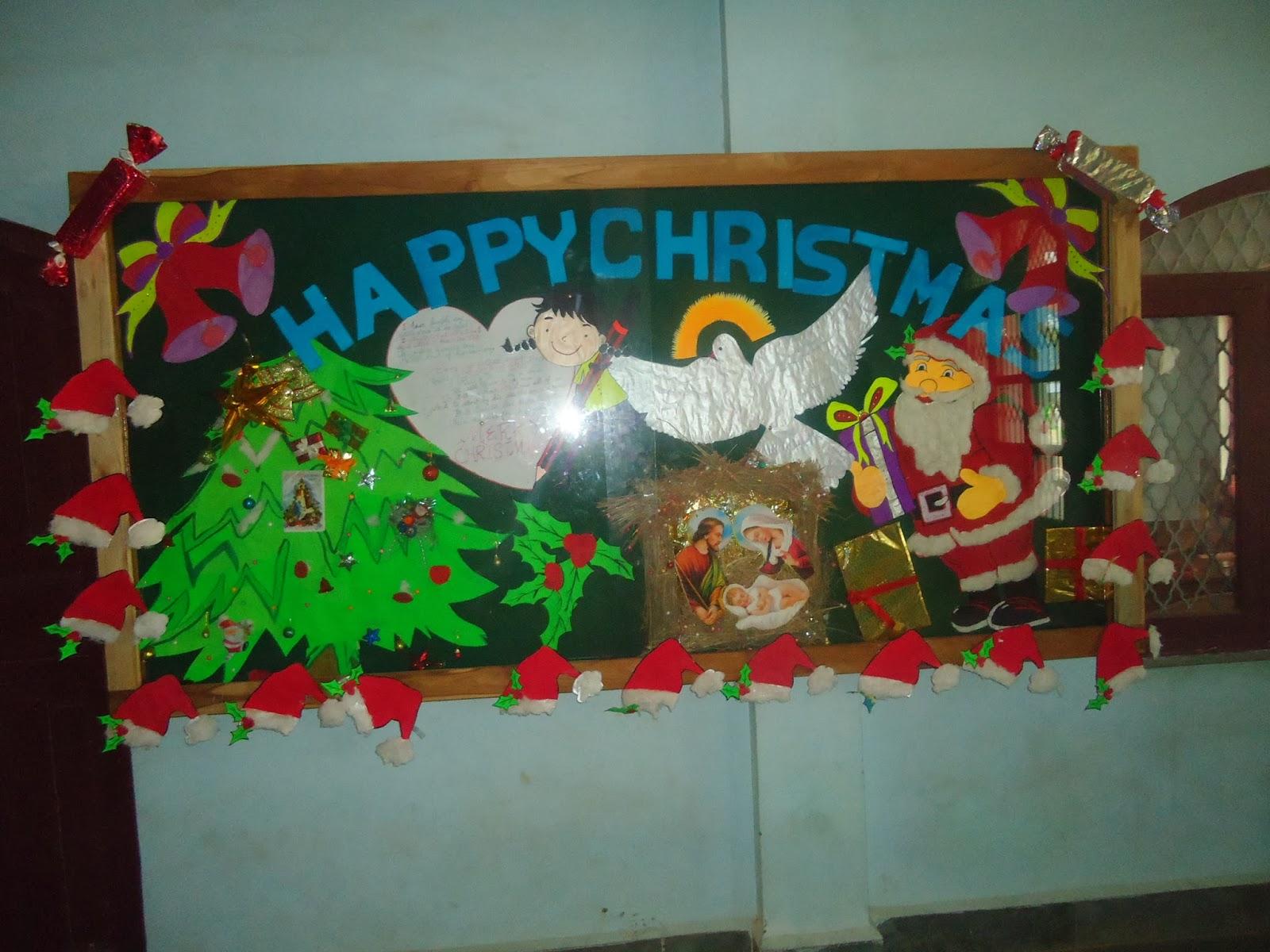 Christ convent school bulletin board decorations for Decoration board