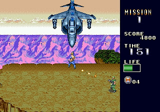 It takes a psycho to attack a Harrier jet head-on.