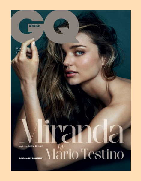 Miranda Kerr by Mario Testino for British GQ May 2014