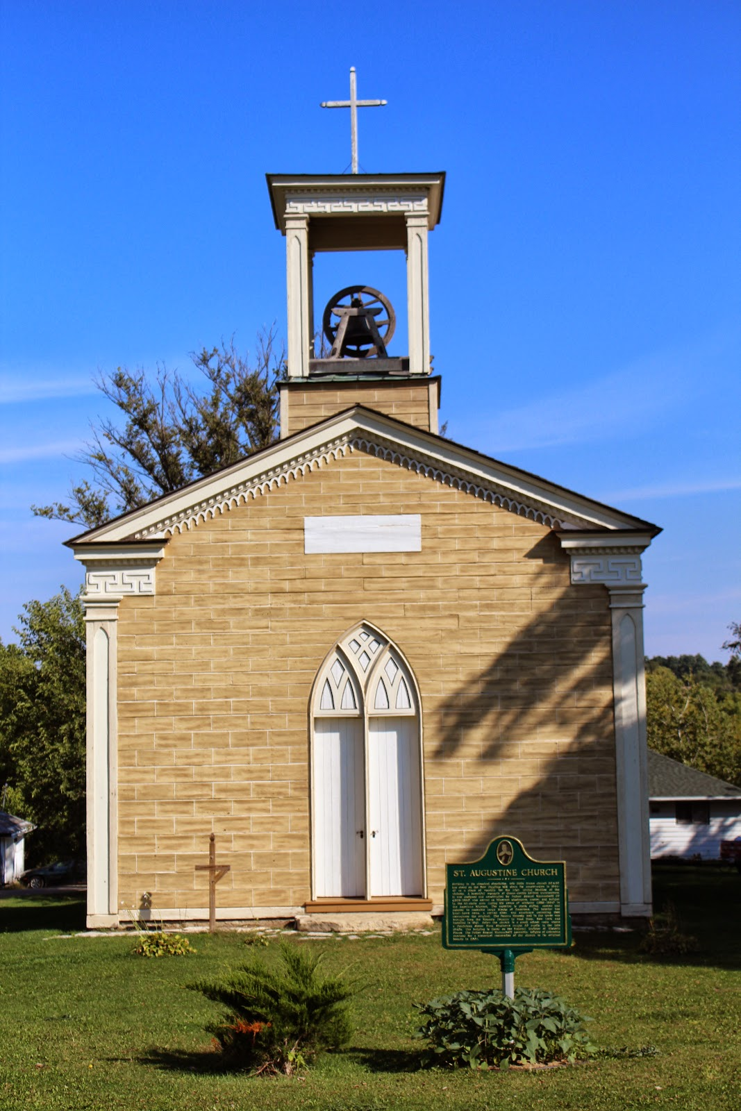 wisconsin historical markers st augustine church. Black Bedroom Furniture Sets. Home Design Ideas