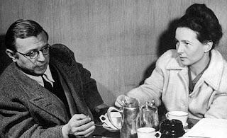 Foto de Jean-Paul Sartre e Simone de Beauvoir