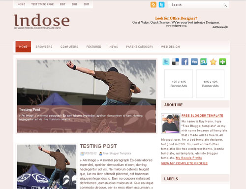 Indose Blogger Template