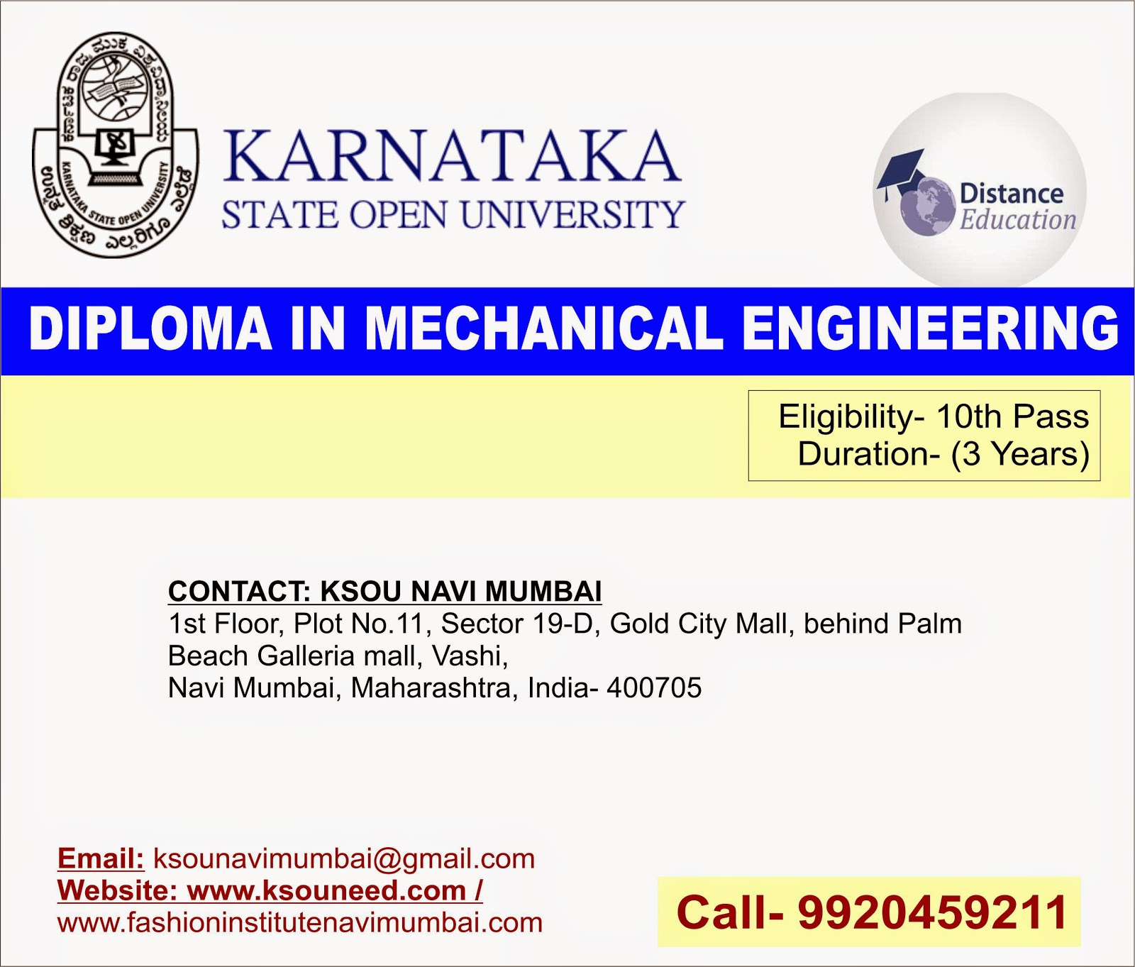 diploma in mechanical engineering distance education ksou navi  diploma in mechanical engineering distance education ksou navi mumbai