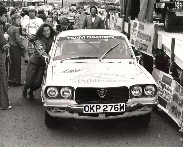 Mazda RX-3 (Savanna), wyścigi, stare sportowe auta, Wendy Markey, racing