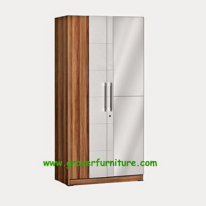 Lemari Pakaian 2 Pintu LP 2796 Graver Furniture