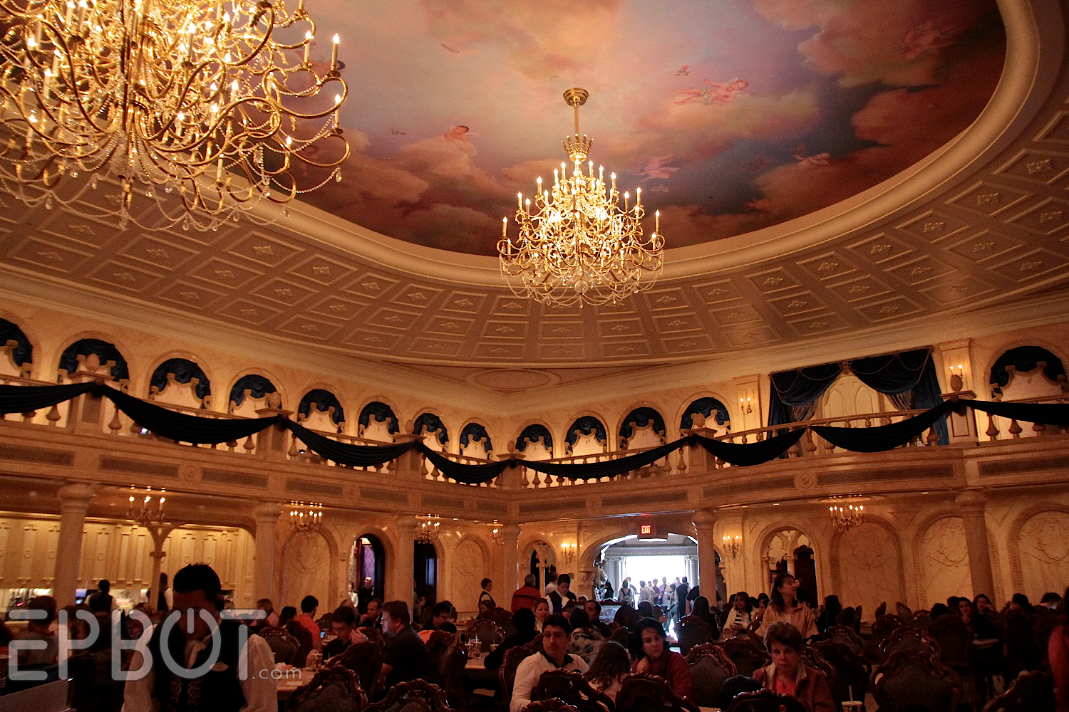 Epbot my trip to disney 39 s be our guest restaurant for 3 dining rooms at be our guest