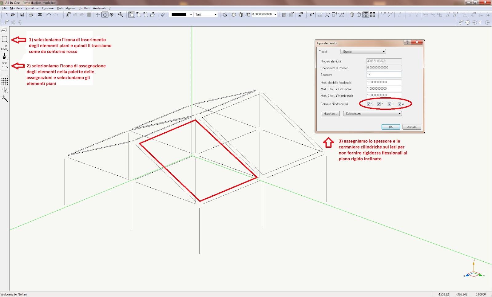 Softing mini tutorial strutture a tetto for Tettoia inclinata del tetto