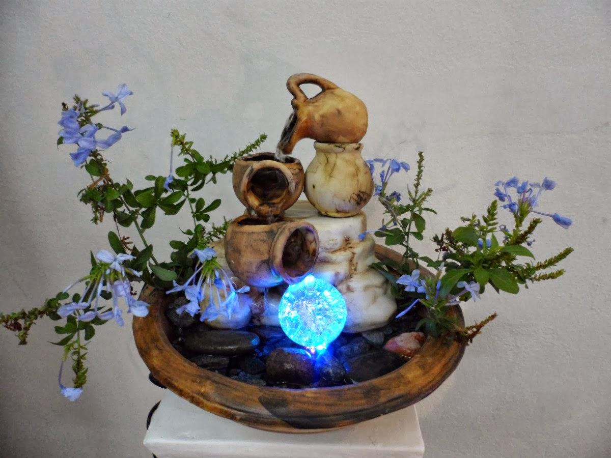 Fuente de agua 3 caídas + Luz *ARTENORA*