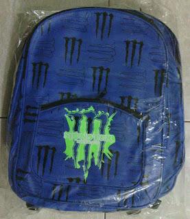 tas sekolah warna biru cork M