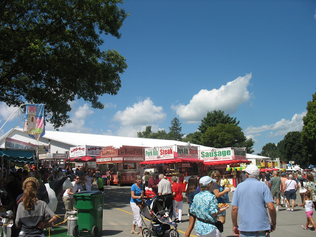 Steak, Pork, Wings.. the fair has everything!