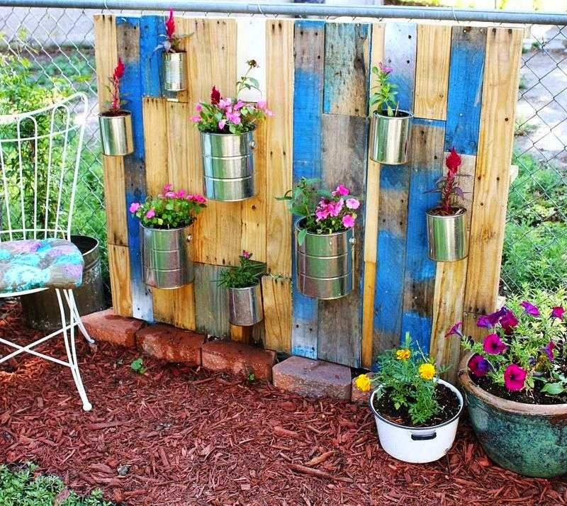 Columpios - Jardines verticales con palets ...