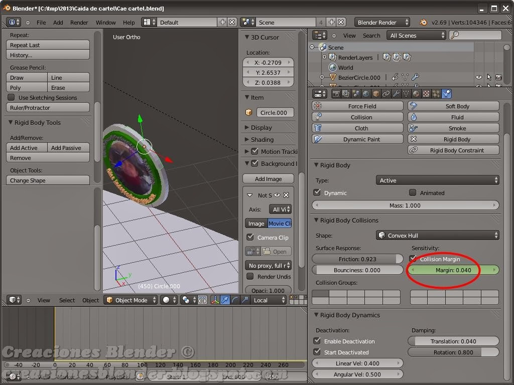 Creaciones Blender: Trabajando con Rigid Body Tools en Blender 2.69
