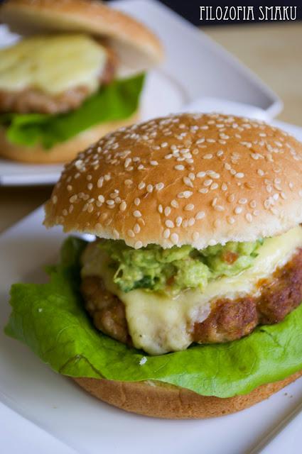 Cheesburgery z guacamole