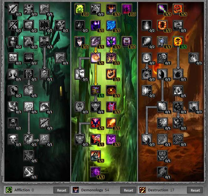 Warlock - Affliction / Demonology 1-80 Leveling Talent Build & Guide.