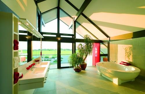 fresh bathroom with indoor trees