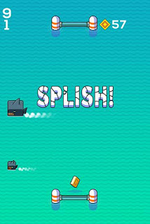 Screenshots of the Splash pong for Android tablet, phone.