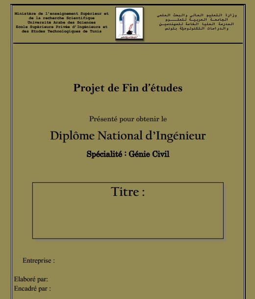Super Docx] Page de Garde PFE Génie Civil - RapportDeStage QF36