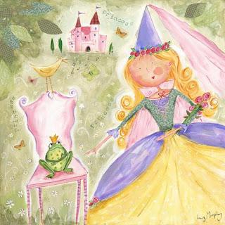 Niña jugando a princesas