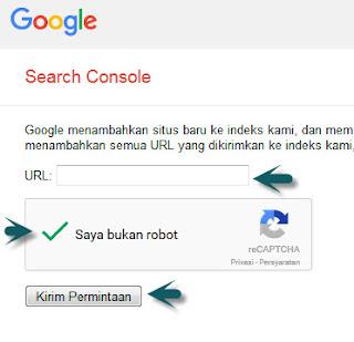 submit postingan url blog di google webmaster tool
