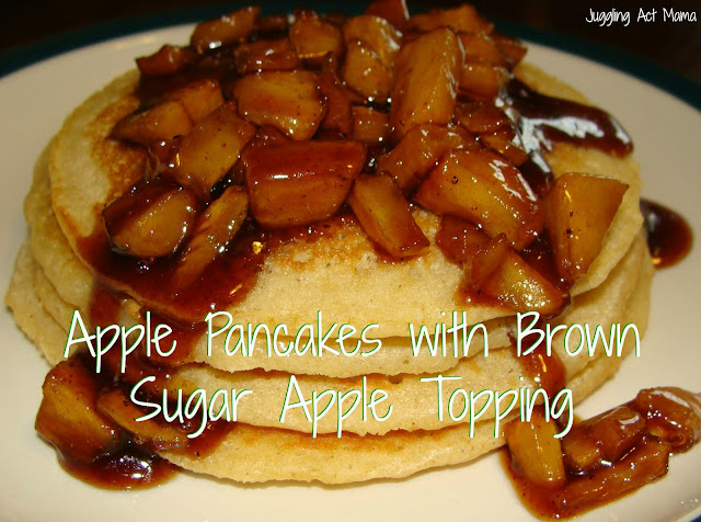 Apple Pancakes with Brown Sugar Apple Compote - Juggling Act Mama