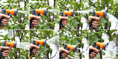 8-way spray nozzle options
