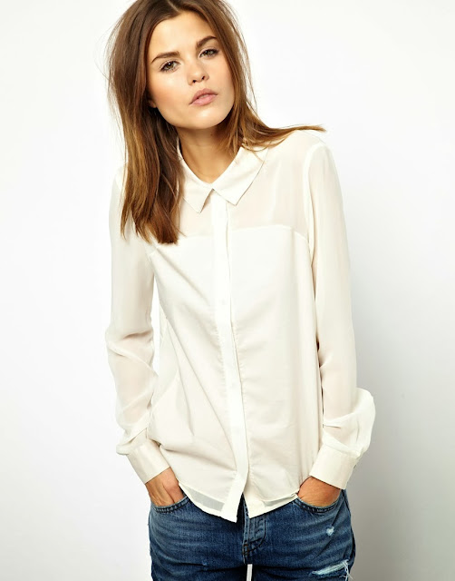 cream panel shirt