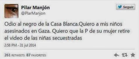 Manjón cerró su cuenta tras el aluvión de críticas que recibió