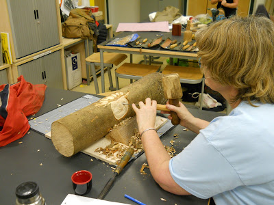 teaching woodcarving to adults