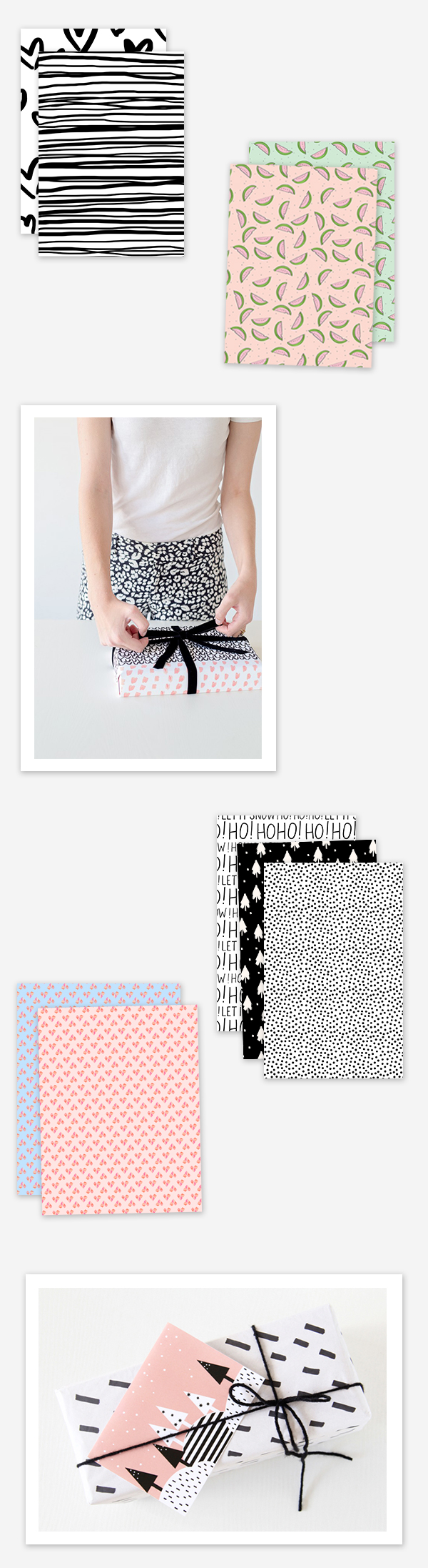Free Printable Wrapping Paper Roundup