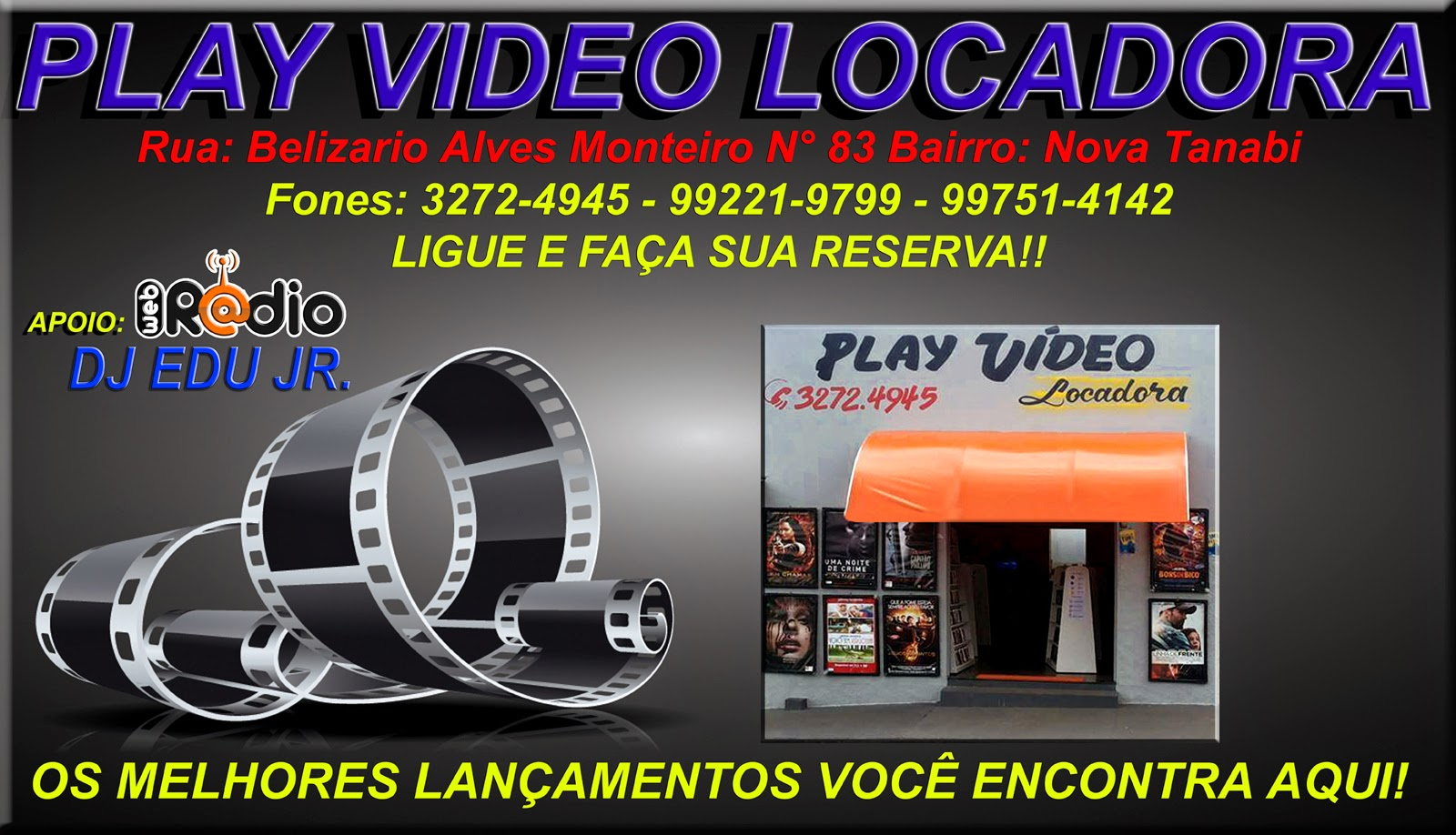 Patrocinador Play Video Locadora!