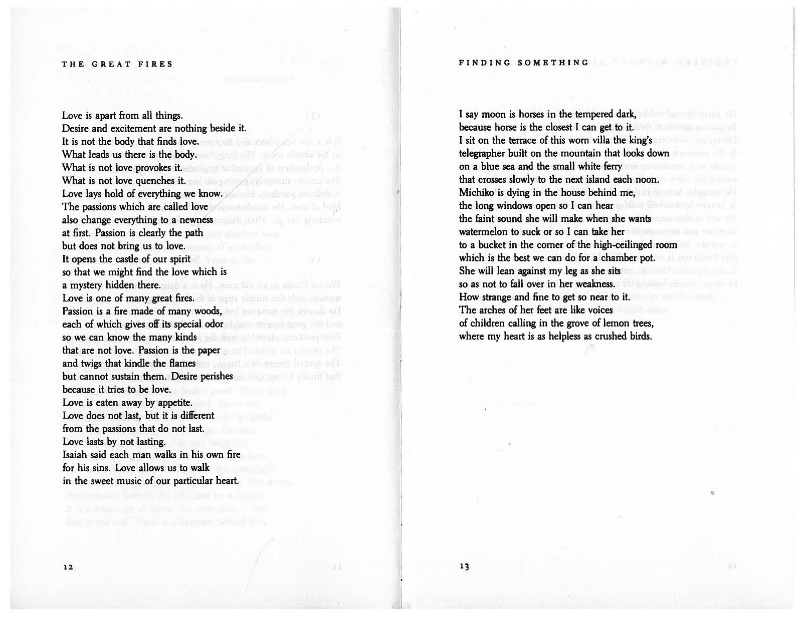 jack gilberts poetry essays
