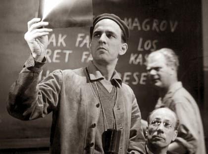 Imagen: Ingmar Bergman duranta una producción
