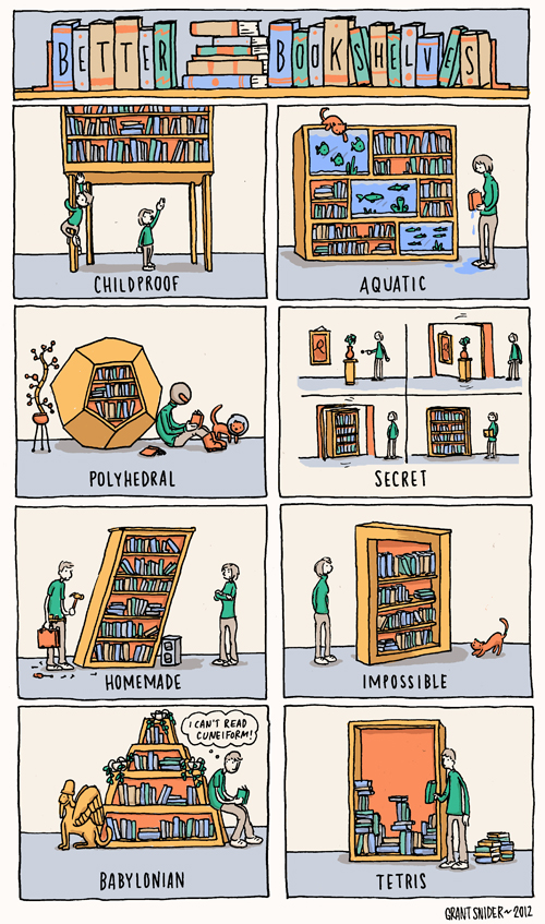 Better Bookshelves from Grant Snider