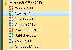 Startmenu Office 2013