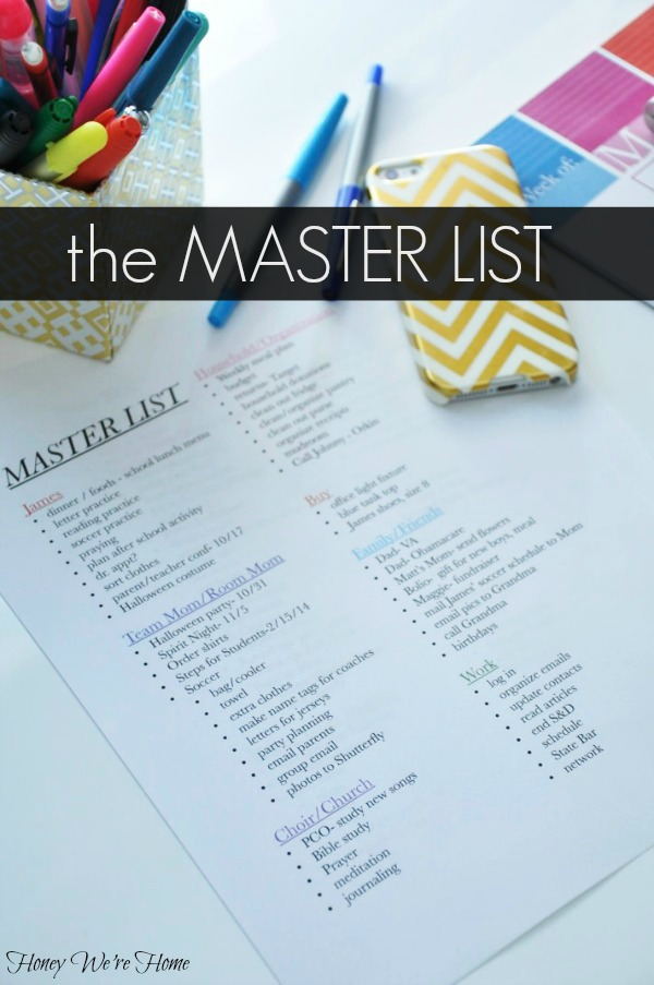 MASTER LIST