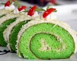 cara membuat kue bolu gulung pandan keju enak (lezat)