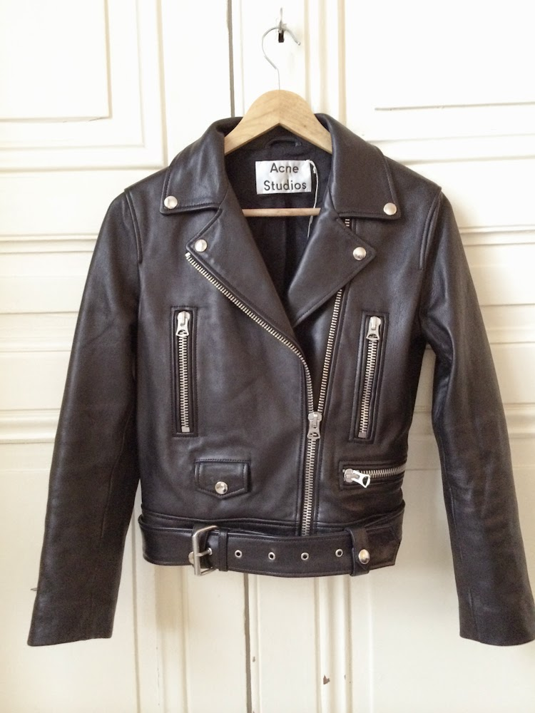 acne, leather jacket, fashion blogger, new in