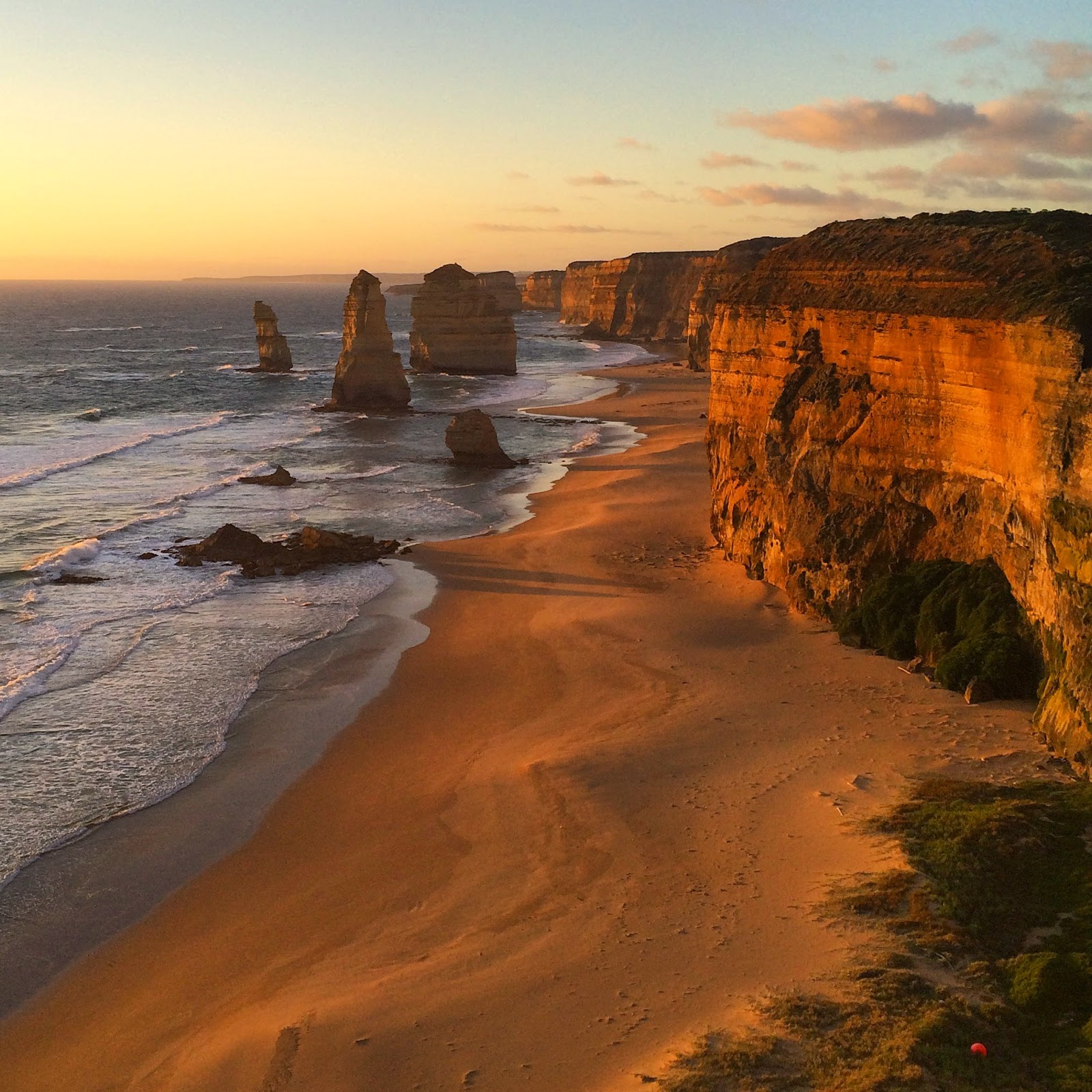 great ocean road sunset