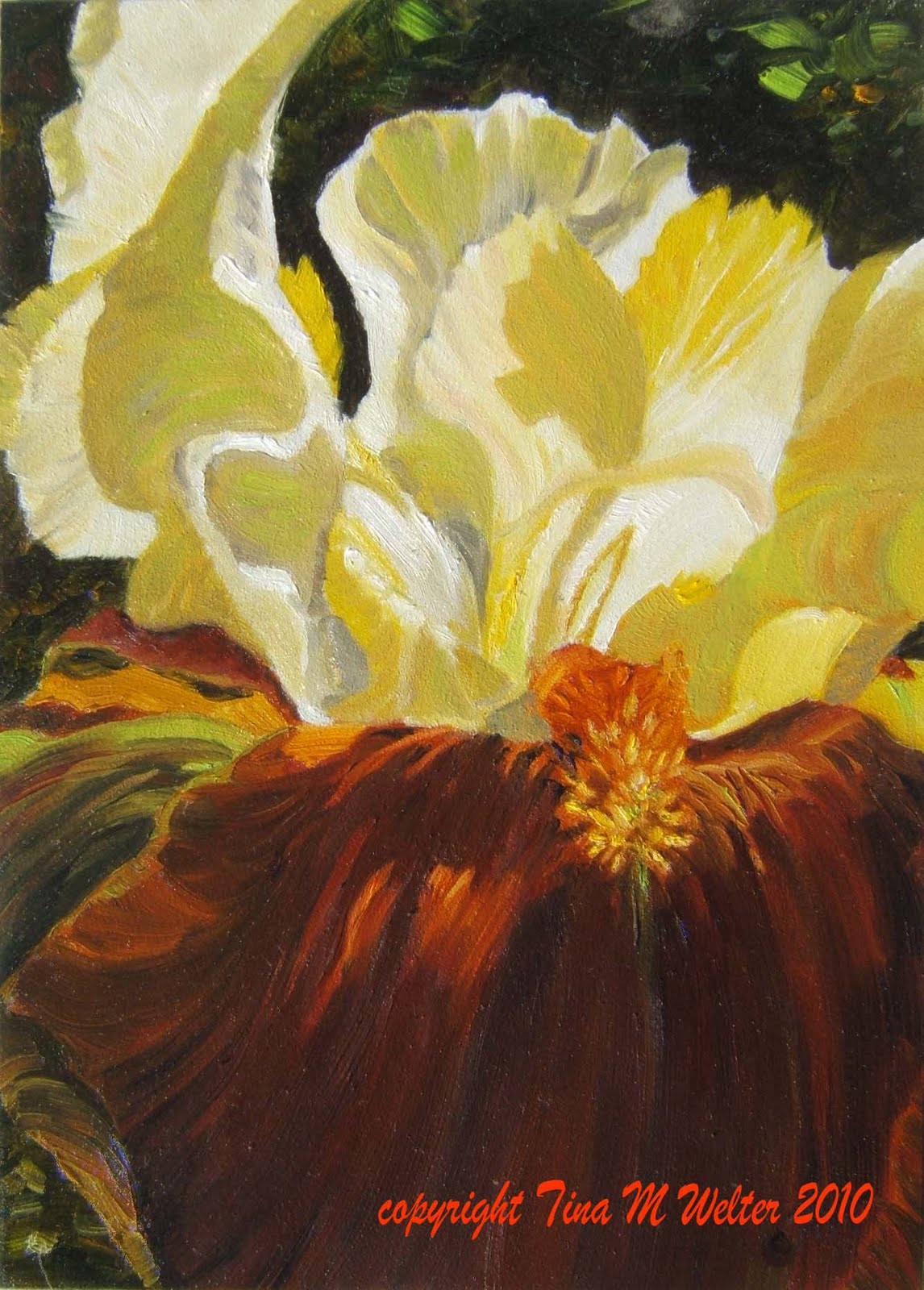 """7""""x 5"""" oil on """"Gessobord"""" copyright 2010 Tina M. Welter"""
