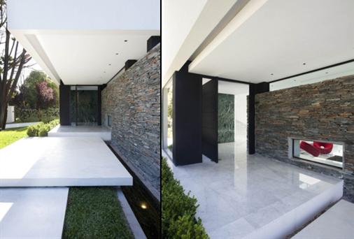 Walter rupp arquiteto casa moderna buenos aires - Entrada de casas modernas ...